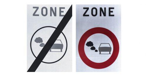 De nouveaux panneaux pour la zone de basses émissions