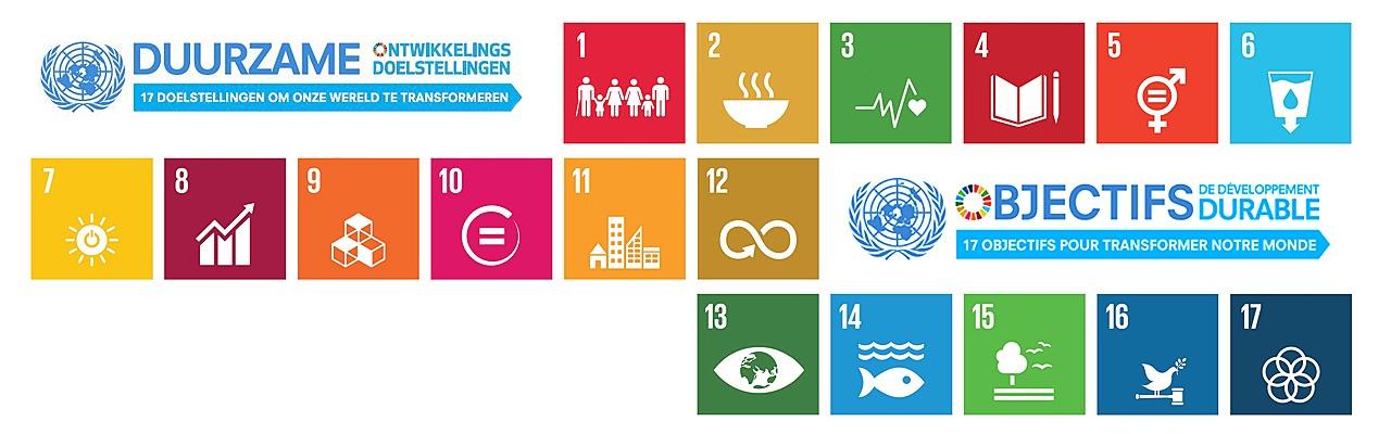 Logo Objectifs développement durable Duurzame Ontwikkelingsdoelstellingen