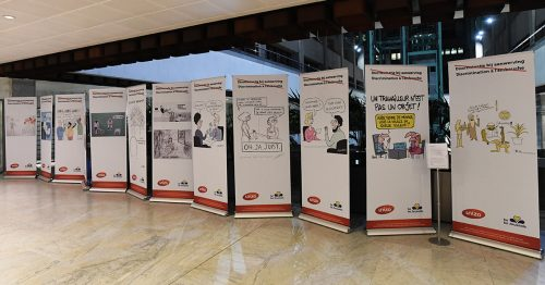 Expo de dessins de presse dans nos bâtiments