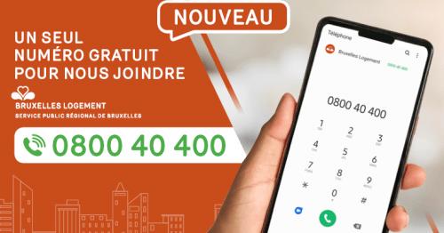 0800 40 400, le nouveau numéro unique de Bruxelles Logement